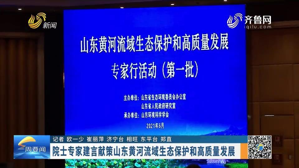 院士專家建言獻策山東黃河流域生態保護和高質量發展