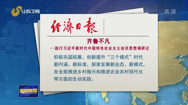 经济日报推出系列深度调研报道:齐鲁不凡