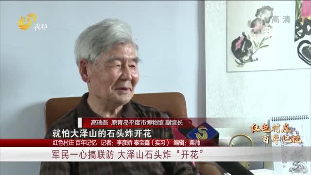 """【红色村庄 百年记忆】军民一心搞联防 大泽山的石头炸""""开花"""""""