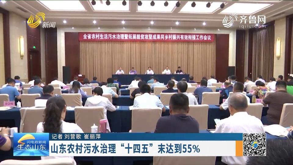 """山東農村污水治理""""十四五""""末達到55%"""