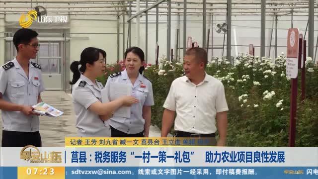 """莒县:税务服务""""一村一策一礼包"""" 助力农业项目良性发展"""