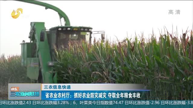 【三農信息快遞】省農業農村廳:抓好農業防災減災 奪取全年糧食豐收