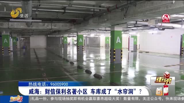 """【重磅】威海:財信保利名著小區 車庫成了""""水簾洞""""?"""