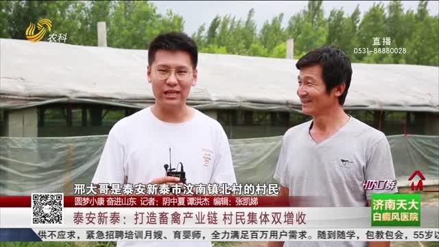 【圆梦小康 奋进山东】泰安新泰:打造畜禽产业链 村民集体双增收
