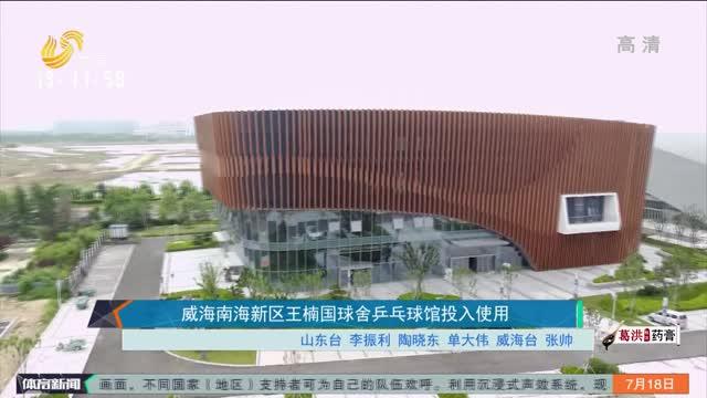 威海南海新區王楠國球舍乒乓球館投入使用