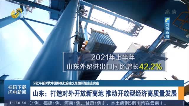 山東:打造對外開放新高地 推動開放型經濟高質量發展