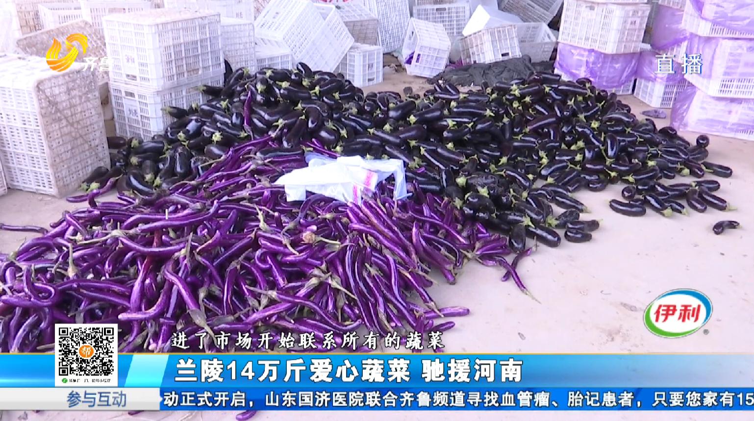 兰陵14万斤爱心蔬菜 驰援河南