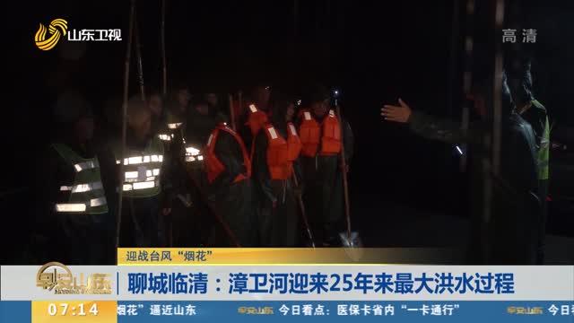 """【迎战台风""""烟花""""】聊城临清:漳卫河迎来25年来最大洪水过程"""