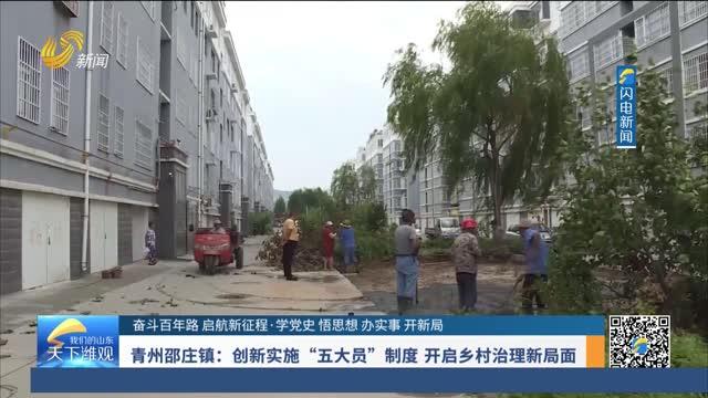 """青州邵庄镇:创新实施""""五大员""""制度 开启乡村治理新局面"""