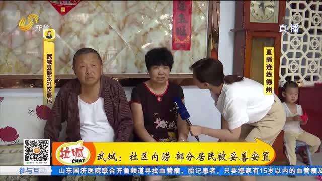 【直播连线】武城:有老旧社区内涝 部分居民被妥善安置
