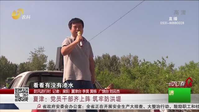 【防汛进行时】夏津:党员干部齐上阵 筑牢防洪堤