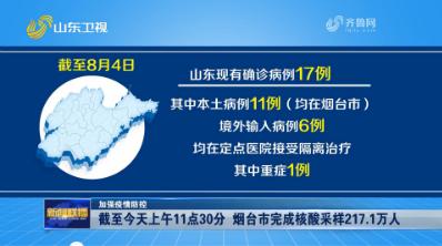 【加强疫情防控】截至今天上午11点30分 烟台市完成核酸采样217.1万人