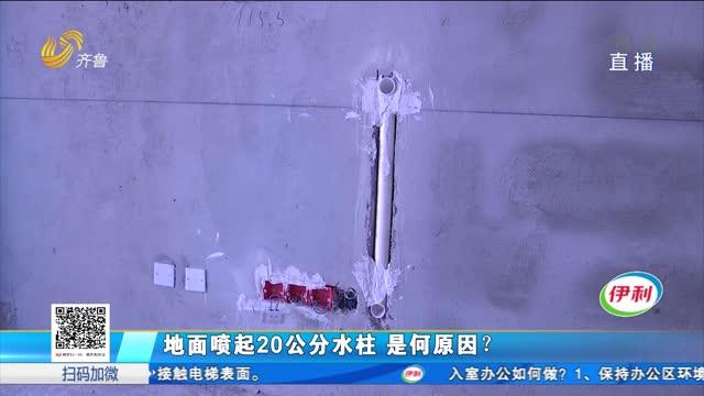 地面喷起20公分水柱 是何原因?