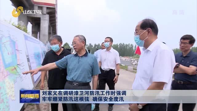 刘家义在调研漳卫河防汛工作时强调 牢牢绷紧防汛这根弦 确保安全度汛