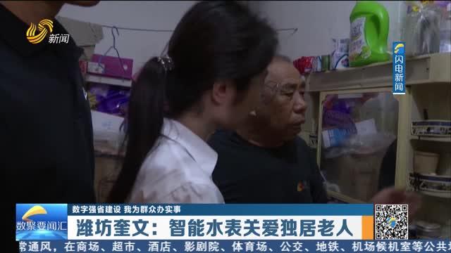 数字强省建设|我为群众办实事:潍坊奎文——智能水表关爱独居老人