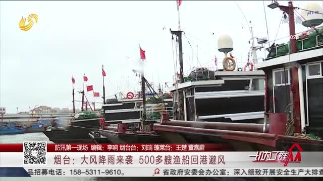【防汛第一现场】烟台:大风降雨来袭 500多艘渔船回港避风
