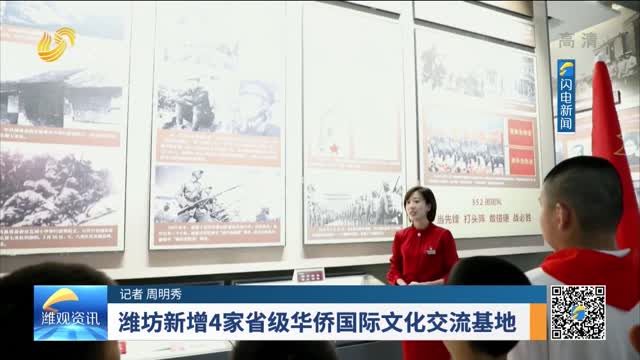潍坊新增4家省级华侨国际文化交流基地
