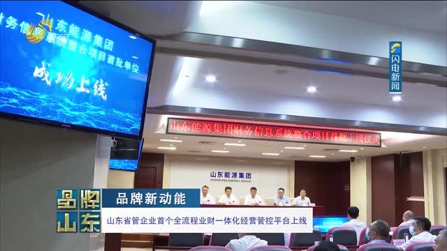 【品牌新动能】山东省管企业首个全流程业财一体化经营管控平台上线