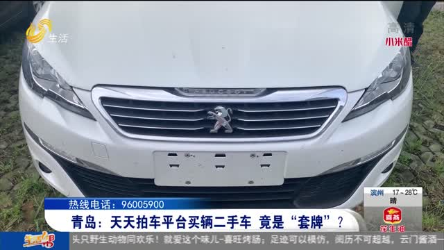 """青岛:天天拍车平台买辆二手车 竟是""""套牌""""?"""