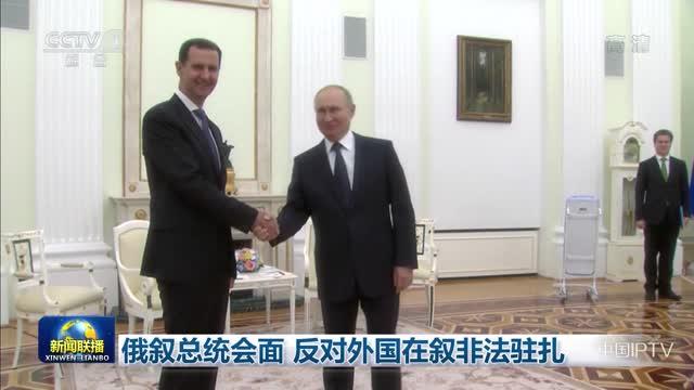 俄叙总统会面 反对外国在叙非法驻扎