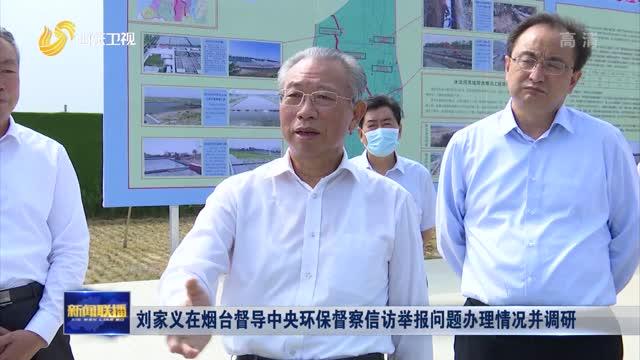 刘家义在烟台督导中央环保督察信访举报问题办理情况并调研