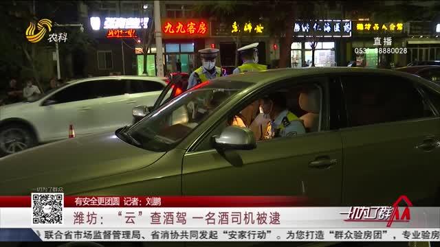 """【有安全更团圆】潍坊:""""云""""查酒驾 一名酒司机被逮"""