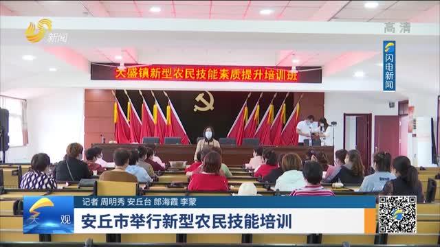 安丘市举行新型农民技能培训