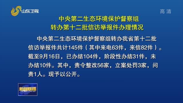 【第二輪中央(yang)生(sheng)態環境保護督jiang)煸zai)山東】中央(yang)第二生(sheng)態環境保護督jiang)熳樽zhuan)辦第十二批信訪舉報件辦理情況