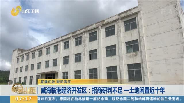 威海临港经济开发区:招商研判不足 一土地闲置近十年