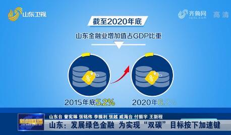 """【在习近平新时代中国特色社会主义思想指引下· 新动能 新突破】山东:发展绿色金融 为实现""""双碳""""目标按下加速键"""