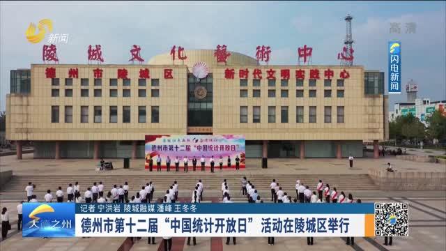 """德州市第十二届""""中国统计开放日""""活动在陵城区举行"""