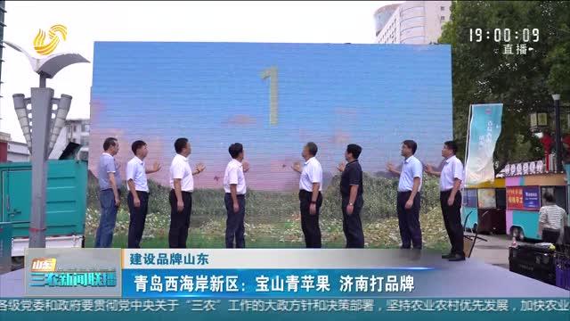 【建设品牌山东】青岛西海岸新区:宝山青苹果 济南打品牌