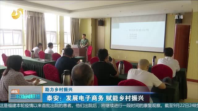 【助力乡村振兴】泰安:发展电子商务 赋能乡村振兴