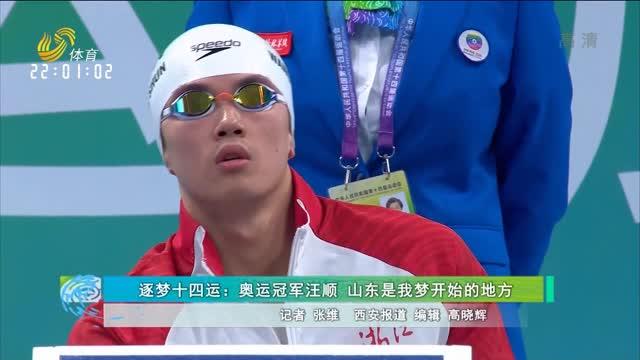 逐梦十四运:奥运冠军汪顺 山东是我梦开始的地方