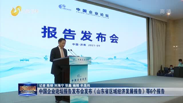 中国企业论坛报告发布会发布《山东省区域经济发展报告》等6个报告