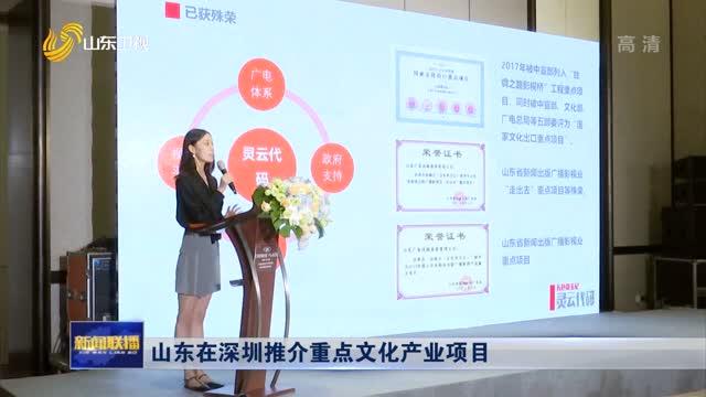 山东在深圳推介重点文化产业项目