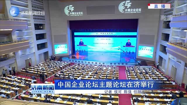 中国企业论坛主题论坛在济举行
