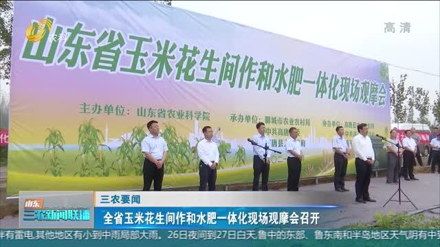 【三农要闻】全省玉米花生间作和水肥一体化现场观摩会召开