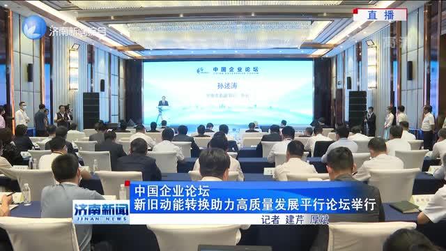 中国企业论坛新旧动能转换助力高质量发展平行论坛举行