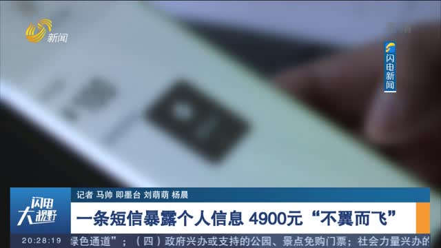 """【案件追踪】一条短信暴露个人信息 4900元""""不翼而飞"""""""