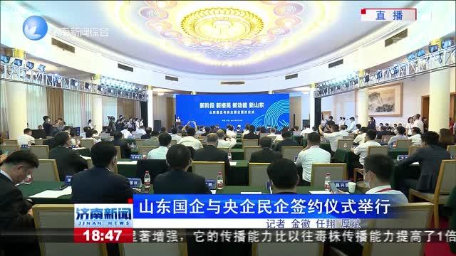 山东国企与央企民企签约仪式举行