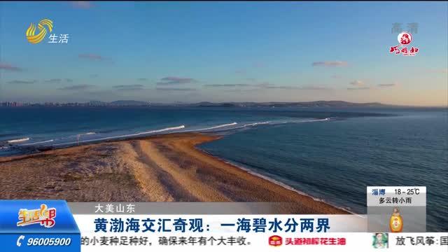 【大美山东】黄渤海交汇奇观:一海碧水分两界