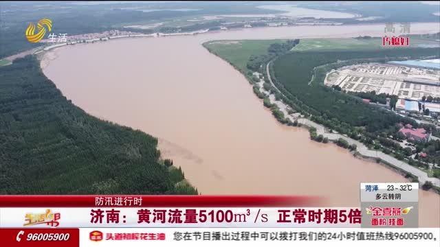 【防汛进行时】济南:黄河流量5100m³/s 正常时期5倍