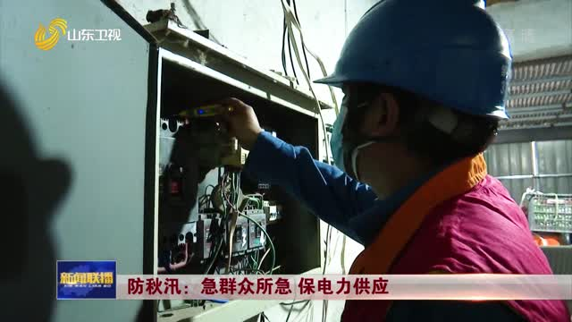 【假期坚守岗位】防秋汛:急群众所急 保电力供应