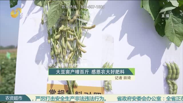 【农大腐植酸 挑战吉尼斯】大豆亩产增百斤 感恩农大好肥料