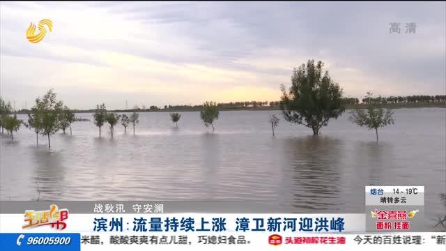 【战秋汛 守安澜】滨州:流量持续上涨 漳卫新河迎洪峰