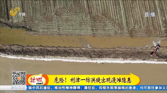 利津县一处黄河防洪堤出现漫滩隐患 消防指战员紧急抢险