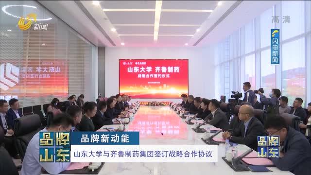 【品牌新动能】山东大学与齐鲁制药集团签订战略合作协议
