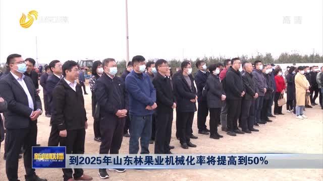到(dao)2025年 山東林果(guo)業機械化率shi) 岣叩dao)50%