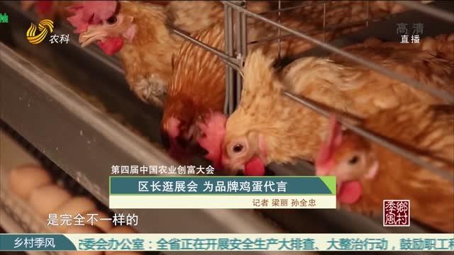 第四届中国农业创富大会 区长逛展会 为品牌鸡蛋代言